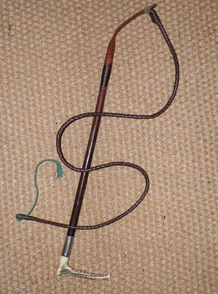 Antiguo Damas Zair caza Whip & Lash Con Cuello De Plata Y Pin