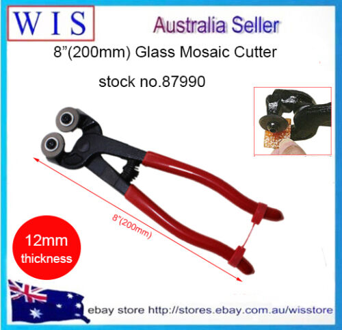 """Glass Mosaic Cutter Nippers Tile w Wheeled Cutter Pliers Tool-87990 200mm 8/"""""""