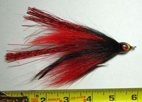 Miller Muskie Black//Red single hook 5//0