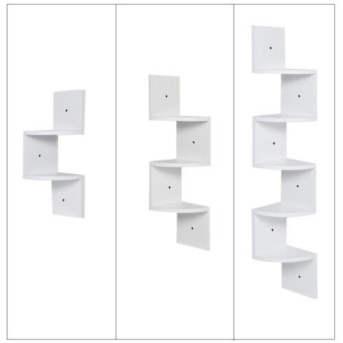 2//3//5 Tier Floating Wall Shelves Corner Shelf CD Photos Display Rack Bookcase