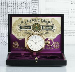 1879-Lange-amp-Soehne-Glashuette-B-Dresden-Qualitaet-1A-Taschenuhr-Box-amp-Zertifikat