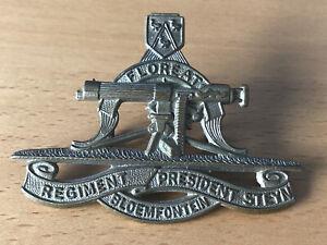 Floreat Bloemfontein Regiment President Steyn Military Army Cap Badge With Lugs