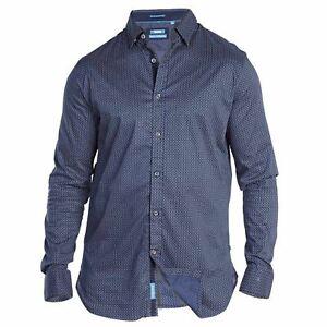 Mens-Duke-Big-Size-Stylish-Long-Sleeve-Button-Up-Cotton-Shirt-3XL-4XL-5XL
