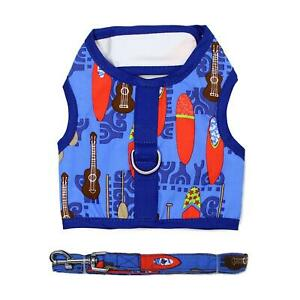 Doggie-Design-Fabric-Dog-Harness-with-Leash-Ukuleles-and-Surfboards-XS-L