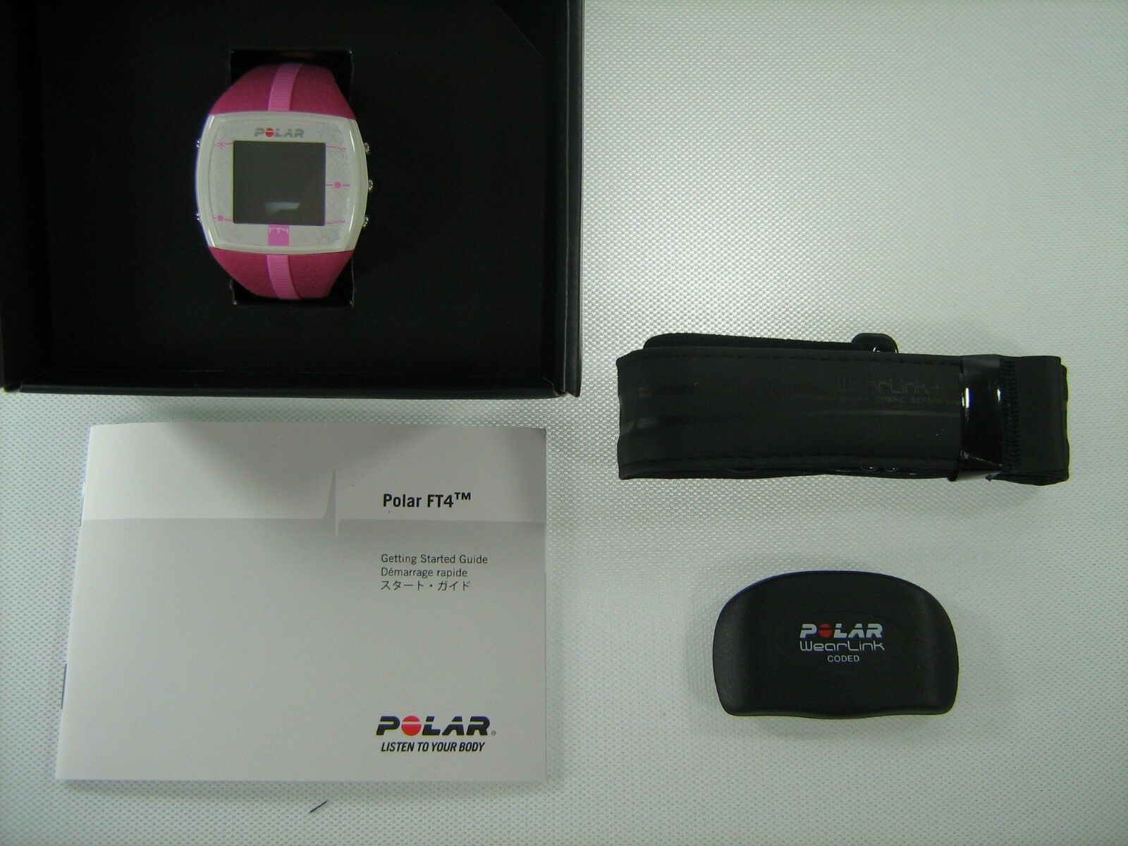 POLAR FT PURPL 4 F Rosa PURPL FT HEART RATE MONITOR SPORT BIKE EXERCISE FITNESS 90042864 8fe79e