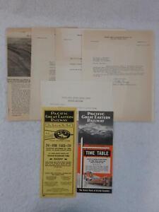 PACIFIC-GREAT-EASTERN-RAILWAY-Railroad-Time-Tables-amp-Ephemera-1950s