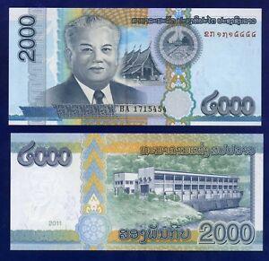 LAOS 2000 KIP 2011 P41 UNCIRCULATED EU-4
