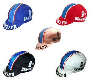 Rennrad-Cap-BROOKLYN-Vintage-Caps-versch-Farben-Retro-Cycling-Caps-Brooklyn