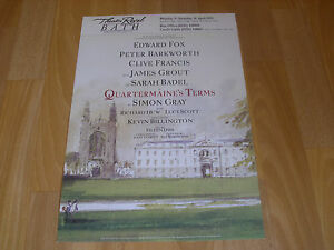 QUARTERMAINEs-TERMS-inc-Edward-Fox-1993-Theatre-Royal-BATH-Original-Poster