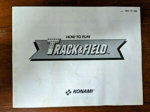 Track-amp-Field-Nintendo-Entertainment-System-NES-Game-Manual-Only-No-Game