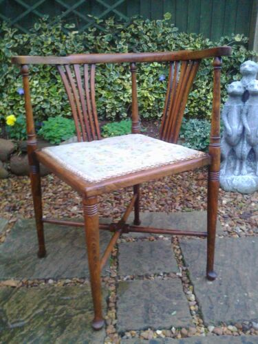 Antique Edwardian Hall/Bedroom/Living Room/Conservatory Chair