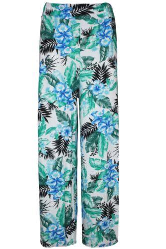 Da Donna Stampato Palazzo Gamba Larga Pantaloni a fiori svasato Pantaloni Larghi Leggings