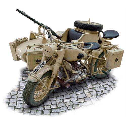 Italeri 1 9 Scale German Military Motorcycle and Sidecar