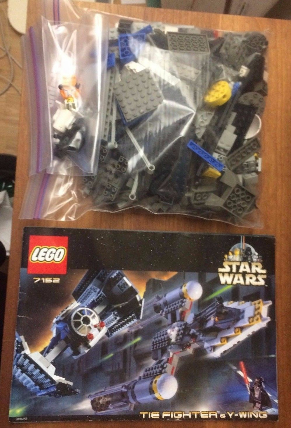 LEGO 7152 TIE Fighter & Y-wing (re-release 7150) 100% Complete instr + minfigs