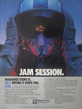 6/1991 PUB MAGNAVOX ELECTRONIC SYSTEMS ECCM ANTI JAMMING PILOT HELMET CASQUE AD