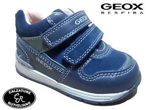 Blu Sneaker Velcro Primi Bambino Geox Scarpe Pellecamoscio Passi OqpC6S7