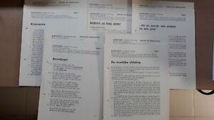 ► Uitgeverij De Sikkel Antwerpen - KORENAREN, losbladige bloemlezing (1974)