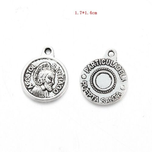10Pcs Tibetan Silver Alloy Religious Charm Pendants Connectors Fit DIY Jewelry