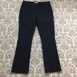 Ann-Taylor-Loft-Womens-Pants-sz-10-w-32-034-in-Black-Bootcut-Brushed-Cotton-Stretch