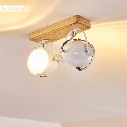 Vintage Decken Lampen Flur Dielen Strahler Wohn Schlaf Zimmer Leuchten Holz-weiß