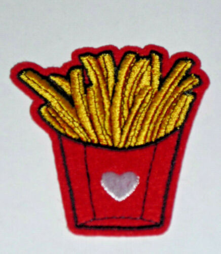 French Fries Patch Applique NEW French Fry Food Sew On patch 2.5 inches