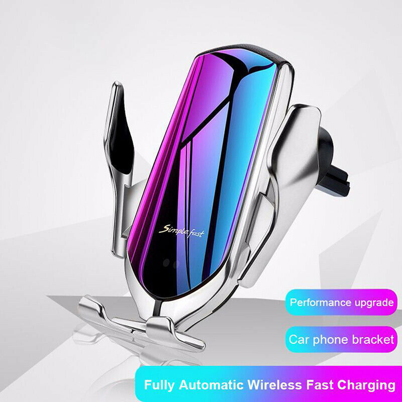 Clamping Smart Sensor Car Air Vent Phone Wireless Charger Ho