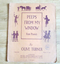 Peeps From My Window for Piano,Olive Turner, 1933, Six pieces for young Pianists