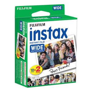 20 shots Fuji Instax Wide Film for Fujifilm 300 210 200 100 Instant Cameras