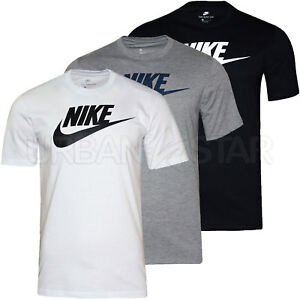 ebe317267af New Mens Nike T-Shirt Retro Gym Sports Nike Logo Top Crew Neck Tee ...