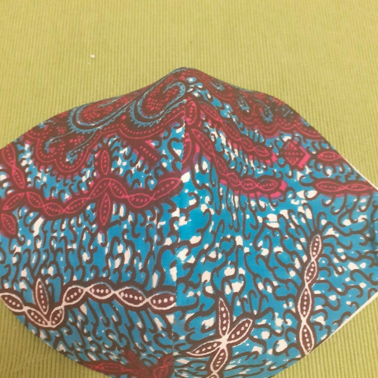 Ankara/African print face mask with breathable natural calico lining