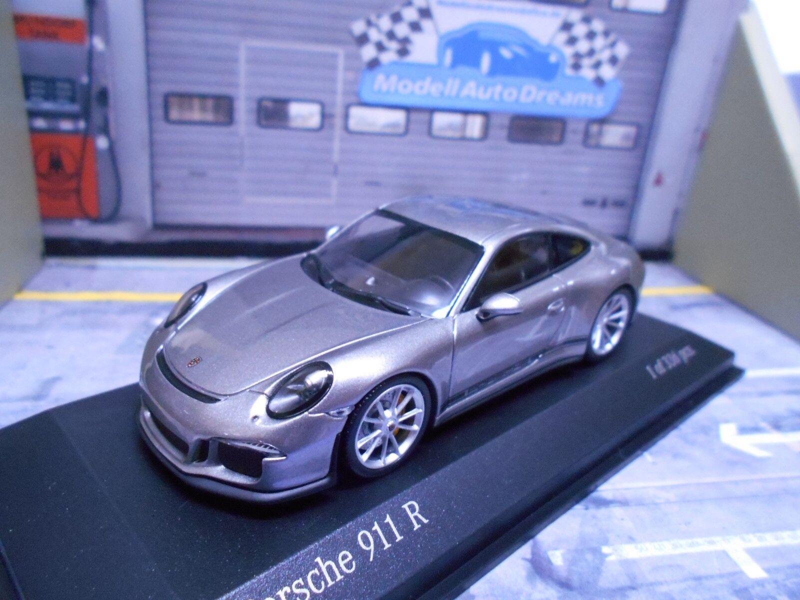 ventas en linea Porsche 911 911 911 991 R 2016 Coupe plata con negro fuente Minichamps Limited 1 43  ordene ahora los precios más bajos