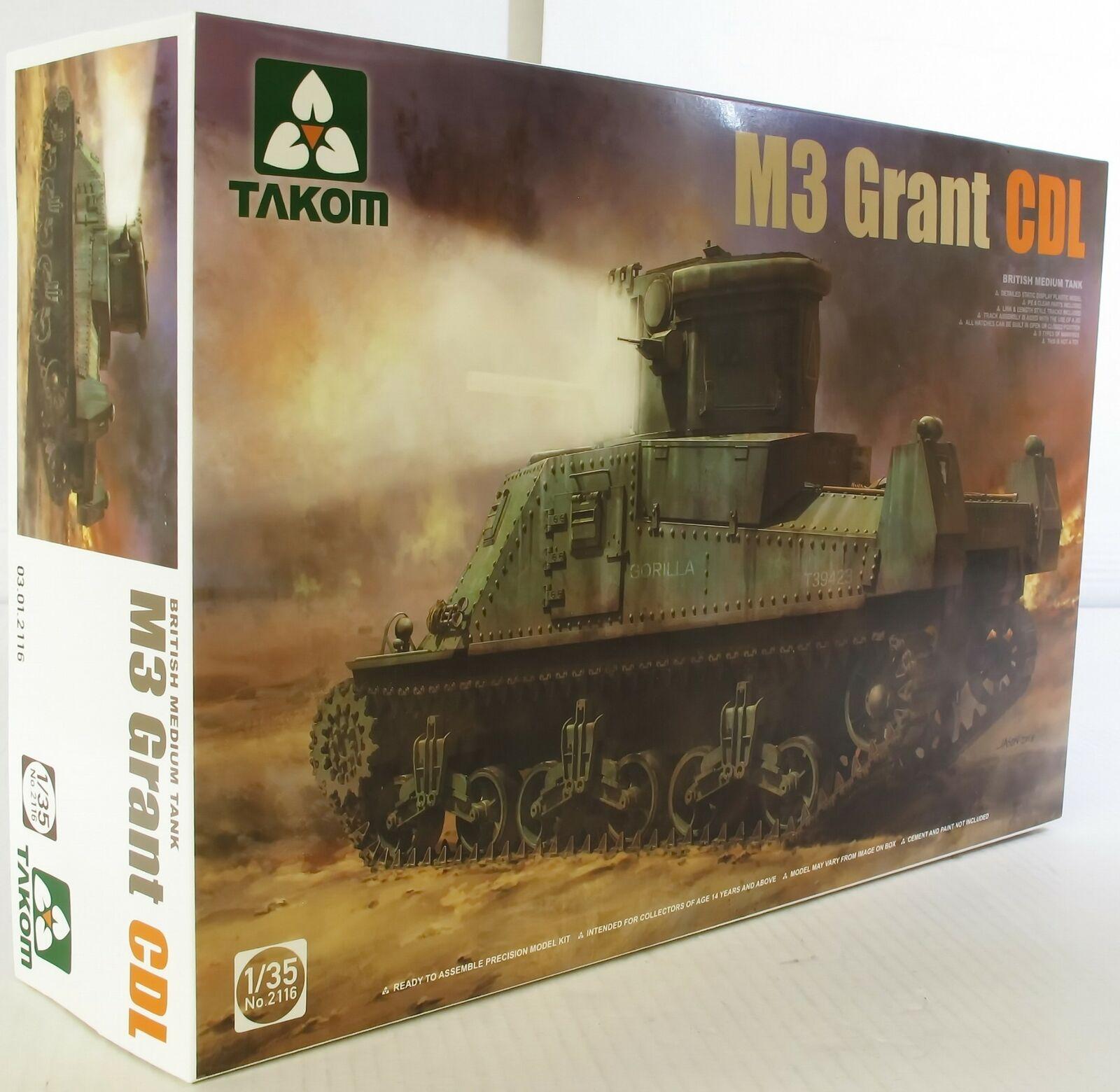 Takom 1 35 02116 M3 Grant CDL British Medium Tank Model Military Kit