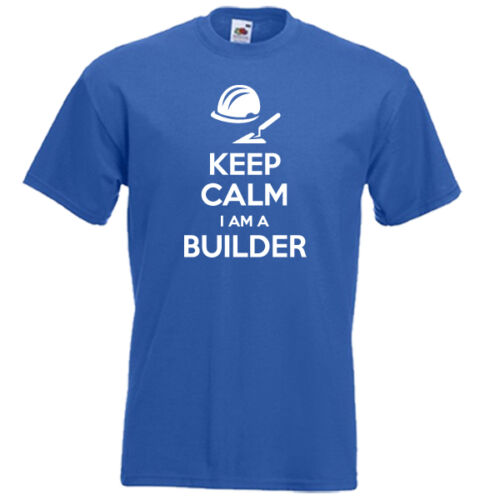 KEEP CALM im a BUILDER building construction worker funny mens womens t-shirt