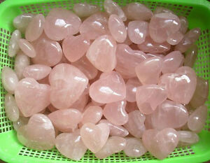 Details about 2KG NATURAL ROSE QUARTZ CRYSTAL HEARTS CARVED WHOLESALES  PRICE 4 4LB
