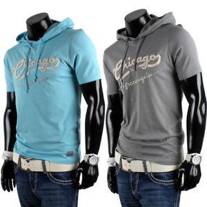 76fa39b01f27 Das Bild wird geladen Herren-Kapuzen-Slim-Fit-85231-T-Shirt-Hoodie-