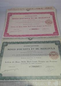 Lot-de-8-actions-compagnie-des-mines-d-039-Ouasta-et-Mesloula-annees-1900-A369