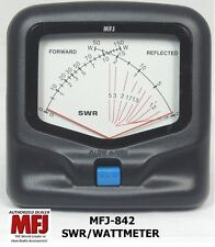 MFJ 842 SWR/Wattmeter VHF/UHF 140-525 MHZ, 150 Watts Mobile, Cross-needle meter
