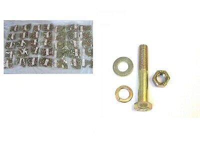 Coarse Stainless Bolt Nut//Washer /& Lock Washer Assortment 2715 PCS With Bin