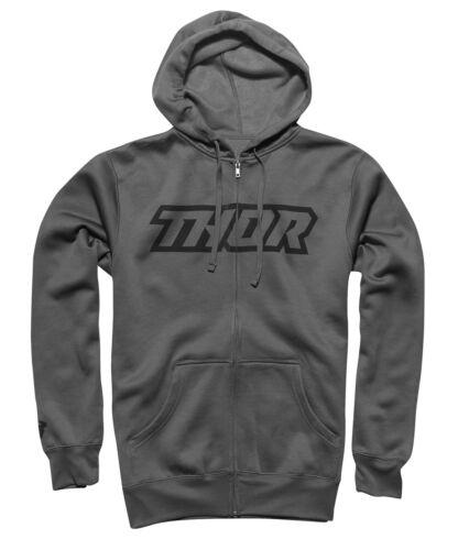 Thor MX Motocross Clutch Zip-Up Hoodie Sweatshirt Choose Size Gray