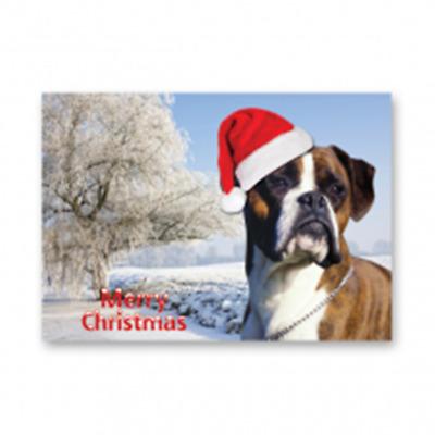 Dog Christmas Card Photo.Boxer Dog Christmas Card Ebay