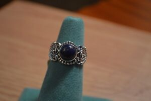 2-64ct-Artisan-Crafted-Lapis-Lazuli-Ring-Sterling-Silver-Size-6