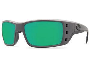 418e980becb87 NEW Costa Del Mar PERMIT Matte Gray   580 Green Mirror Glass 580G ...