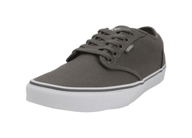 768382c485 Vans Men Women Unisex Shoes Atwood Canvas Pewter Gray White Skateboard  Padded