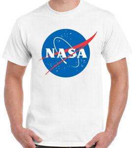NASA Logo T-Shirt Tee Space Astronaut Geek Big Bang Theory Star Retro Logo Cool