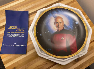 Hamilton Collection 1993 Star Trek The Next Generation Captain Picard Plate