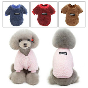 Winter-Small-Dog-Cat-Warm-Coat-Puppy-Sweater-Jacket-Coral-Fleece-Pet-Clothes