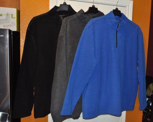 New ~ Men/'s Foundry 1//4 Zip Pull Over Fleece Long Sleeve Jacket Reg /& Big @ Tall