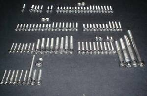 MAICO-RADIAL-POLISHED-STAINLESS-ENGINE-BOLT-SCREW-KIT-250-400-440-1972-1977
