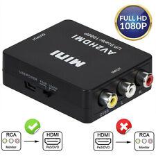 HDMI to RCA Converter Composite AV 3rca CVBS 1080p Video Adapter Laptop Ps4 Xbox