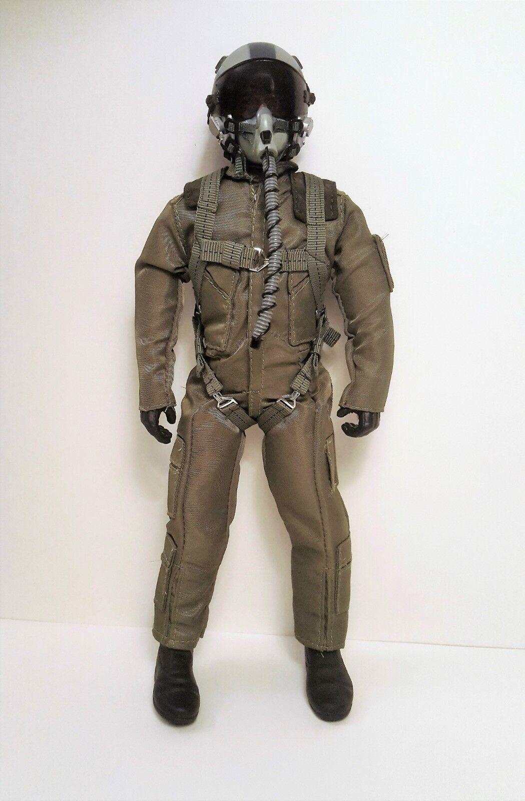 1/4.5  1/4 escala US Air Force/Azul Marino piloto figura con cabeza de accionamiento servo